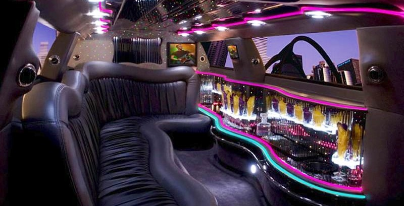 interieur roomwitte Chrysler limo